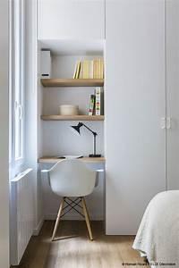 Dressing Petit Espace : desk office bureau un mini espace bureau optimis comme un h tel appartement 17 eme by ~ Teatrodelosmanantiales.com Idées de Décoration