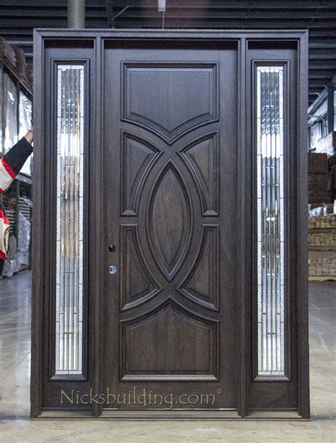 modern mahogany exterior door cl