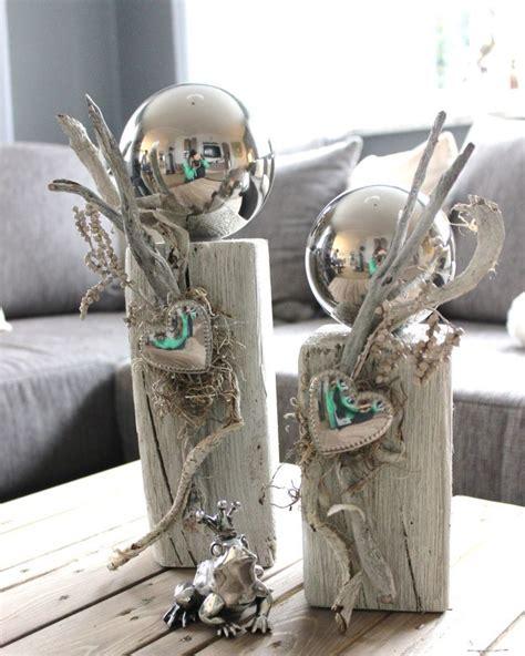 Weihnachtsgestecke Aus Holz by Kl26 Zweierset Kleine Holzs 228 Ulen Gebeizt Und Wei 223