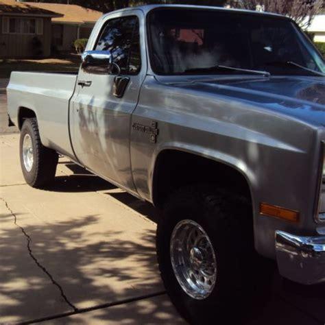 Buy Used 1984 Chevy C20 Custom Deluxe (silver) In