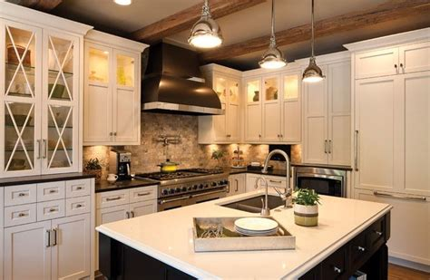 Black And White Traditional Styled Kitchen With Clean