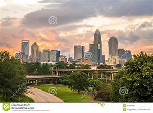 Charlotte, North Carolina Sunset 3 Stock Photo