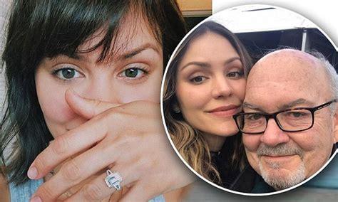 katharine mcphee reveals  engagement ring