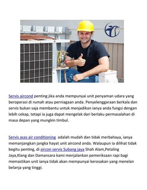 aircon service servis aircond shah alam petaling