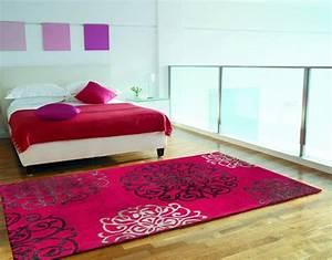 Tapis Rose Fushia : tapis design salon pas cher tapis rose fushia tapis noir blanc ~ Teatrodelosmanantiales.com Idées de Décoration
