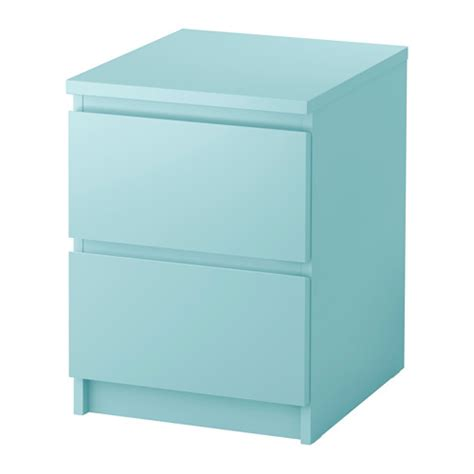 Kitchen Curtain Ideas With Blinds by Malm Chest Of 2 Drawers Light Turquoise 40x55 Cm Ikea