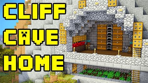 easy minecraft cliff house tutorial youtube