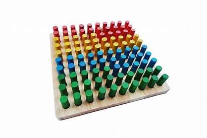 Peg Board Wooden Preschool Play Equipment Q269
