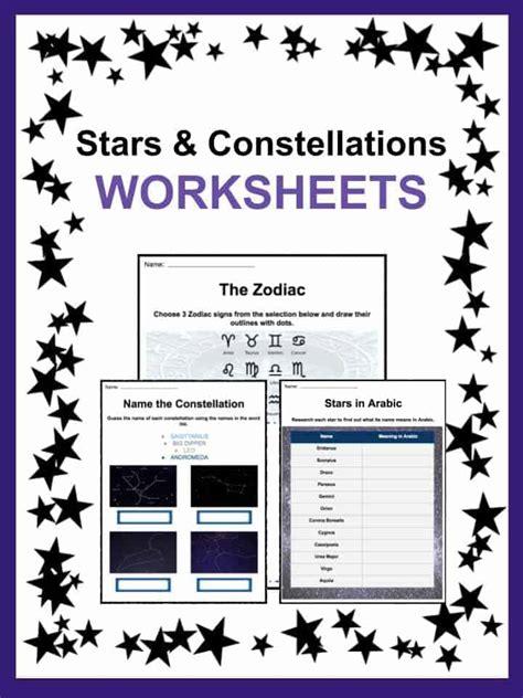 star  constellation facts  worksheets kidskonnect