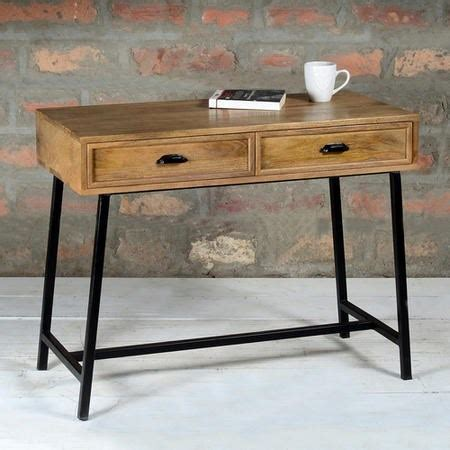 narrow desk with drawers suri industrial modern narrow console table with drawers