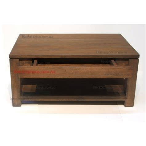 Coffee Table Timber 2 Hidden Drawers