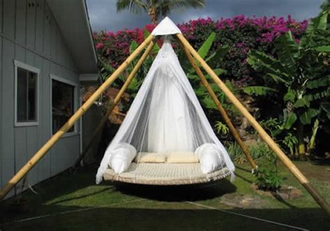 diy trampoline swing bed  ultimate outdoor lounging