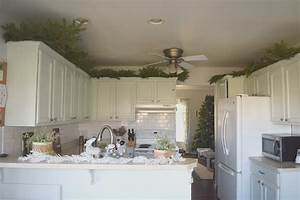 greenery above kitchen cabinets • Our House Now a Home