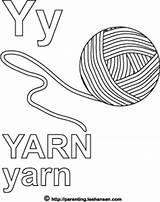 Yarn Coloring Alphabet Letter Sheet Pages Activity Ball Word sketch template