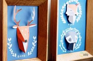 Les 25 meilleures idees de la categorie trophee de chasse for Kitchen cabinets lowes with pliage papier facile