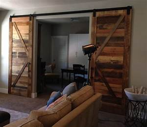 barn doors on long sliding hardware for wide or big With barn doors for large opening