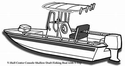 Boat Console Center Coloring Hard Clip Fishing