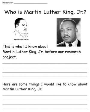 martin luther king jr 4th grade project martin luther