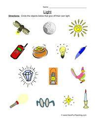 light worksheet 1 educational worksheets