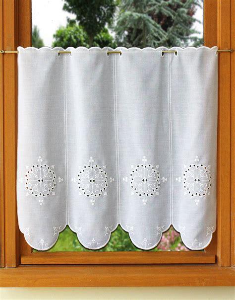 rideaux de cuisine brise bise rideau de cuisine en broderie anglaise