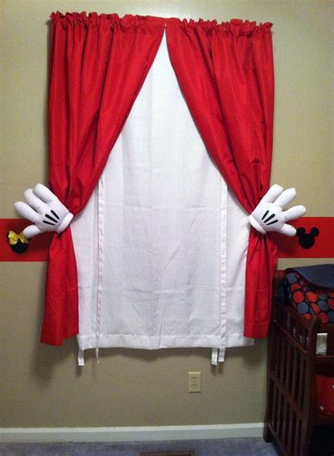 mickey mouse curtains simply use plain and white