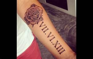 Tatouage Chiffre Romain Poignet : tatouage date de naissance en chiffre romain avant bras tuer auf ~ Nature-et-papiers.com Idées de Décoration
