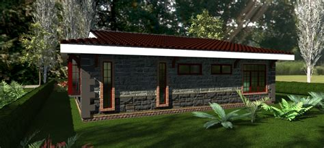 david chola architect house plans  kenya  concise  bedroom bungalow house plan