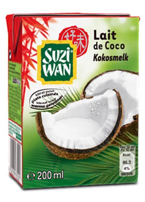 cuisiner soja suzi wan lait de coco
