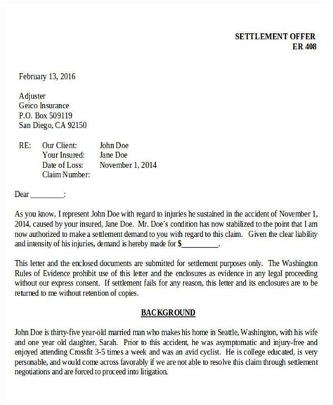 how after a demand letter does settlement take 44 demand letter exles sle templates 22153