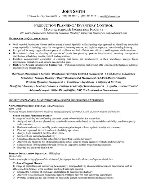 Inventory Planning Manager Resume inventory controller resume sle template