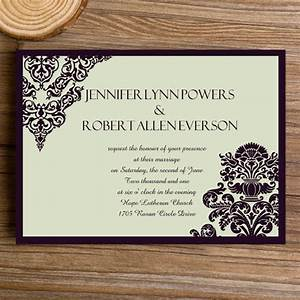 affordable formal damask wedding invites ewi289 as low as With inexpensive formal wedding invitations