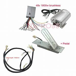 1800w 48v Brushless Motor Controller Throttle Pedal Wire Harness Electric Gokart 882511120626