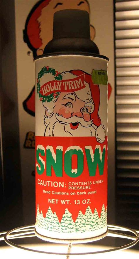 spray snow when i was growing up alot of our christmas