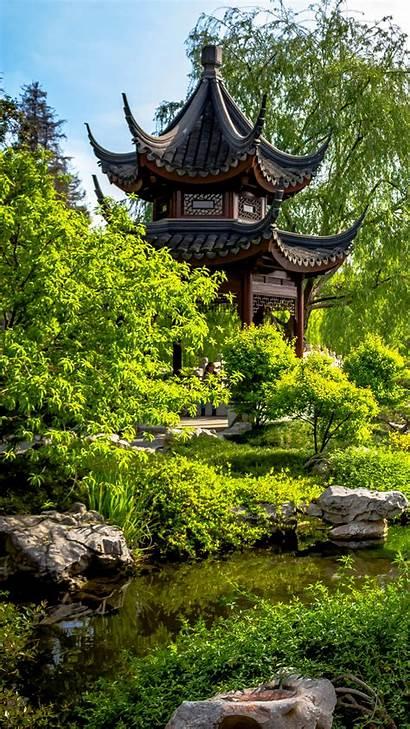 Japanese Garden Mobile Gardens Wallpapers Pagoda Japan