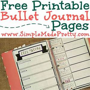 Free Printable Bullet Journal Pages - Simple Made Pretty