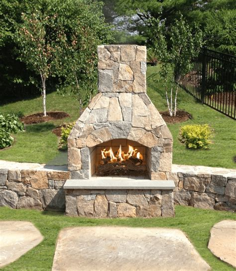 outdoor fireplace kits stonewood products cape  ma