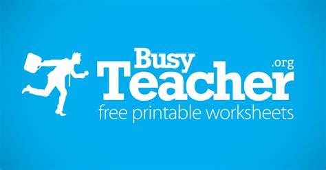 busyteacher  printable worksheets  busy