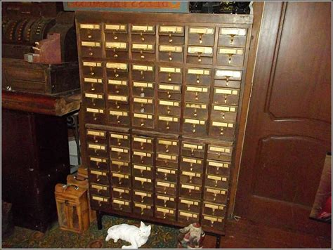 Library Card Catalog Cabinet Plans