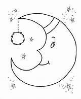 Preschool Coloring Moon Pdf Template Templates Word Colouring Format sketch template