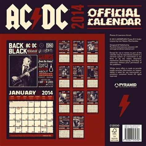 calendar acdc calendars ukposterseuroposters