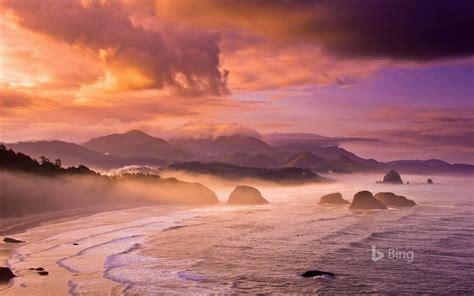 sunset beach oregon state bing wallpaper  preview