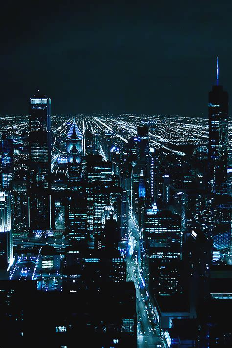 chicago  gotham photographer ciudad de noche en