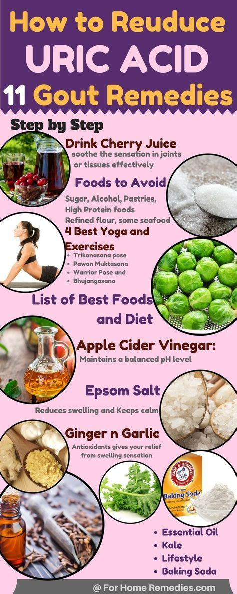 gout diet uric acid foods reduce remedies levels cure yoga rid food chart juice remedy lower level cherry low forhomeremedies