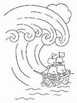 Coloring Pages Wave Tsunami Template Colouring Summer Sheets Printable Adult Crafts Outdoor sketch template