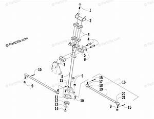 Arctic Cat Atv 2005 Oem Parts Diagram For Steering Post Assembly