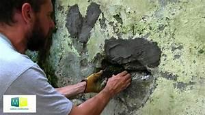 Étanchéité Mur Enterré Par L Intérieur : ma onnerie mur pierre r paration youtube ~ Farleysfitness.com Idées de Décoration