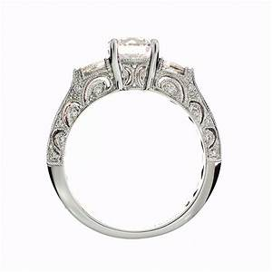Diamond engagement ring setting in 18kt white gold amore for Diamond wedding ring settings
