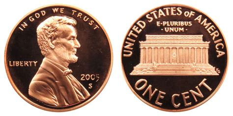2005 S Lincoln Memorial Cent Copper Plated Zinc Penny