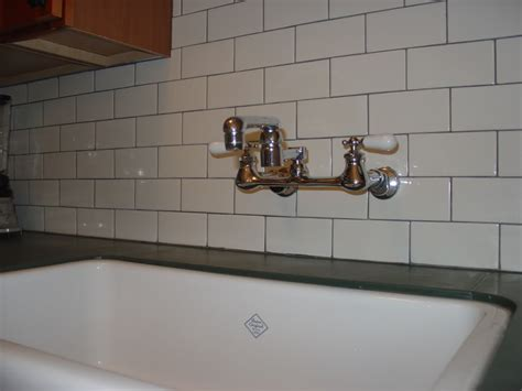 installing kitchen faucet how to choose the best subway tile sizes to get the