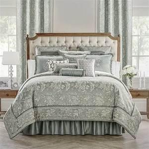 Waterford, Aqua, Mist, Mercer, 7, Piece, Queen, Comforter, Set